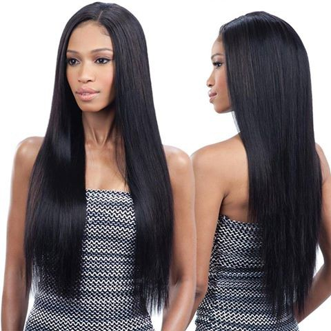 Full Lace Wigs Indian Remy Hair Yaki Straight