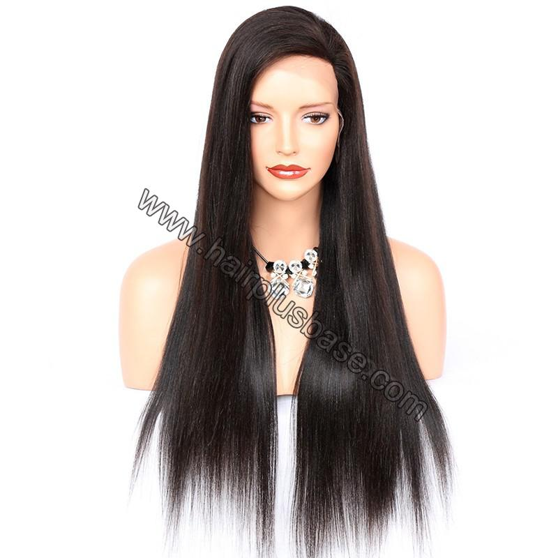 Full Lace Wigs Peruvian Virgin Hair Yaki Straight 1