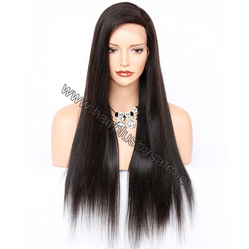 Full Lace Wigs Peruvian Virgin Hair Yaki Straight 2
