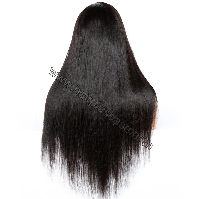 Full Lace Wigs Peruvian Virgin Hair Yaki Straight 5