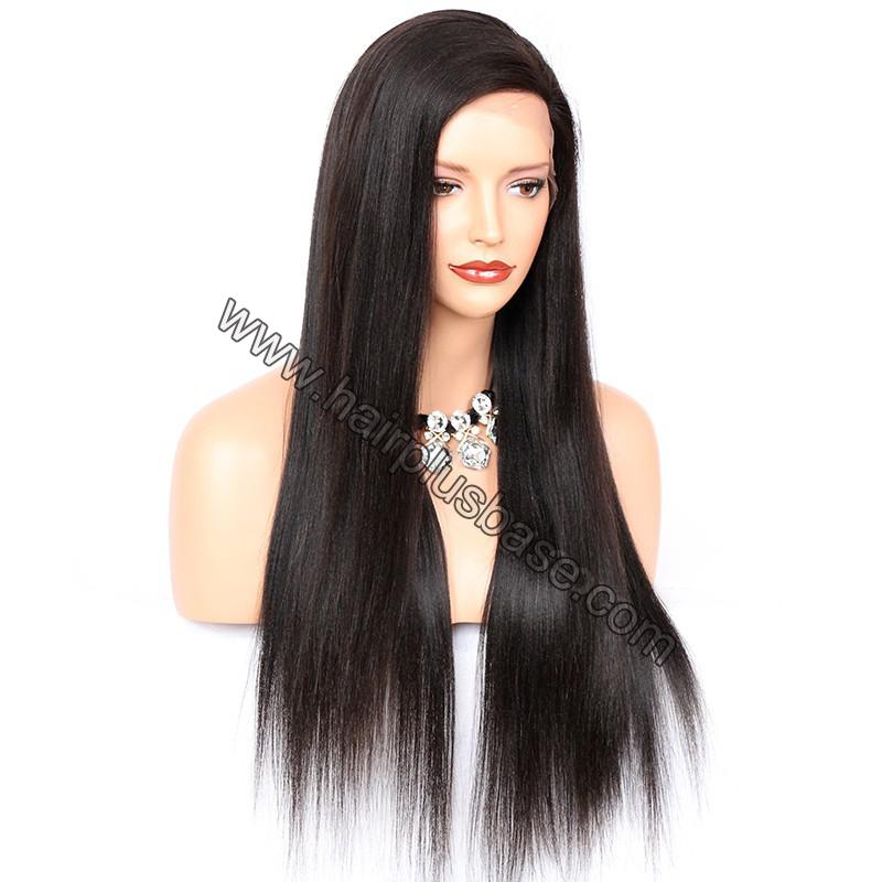 Full Lace Wigs Peruvian Virgin Hair Yaki Straight 6