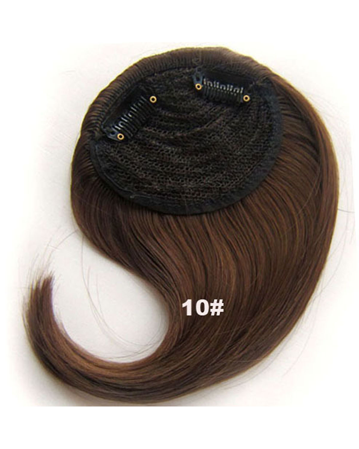 Girls Charming Straight Short Bangs Clip in Synthetic Hair Extension Fringe Bangs Hairpiece10#