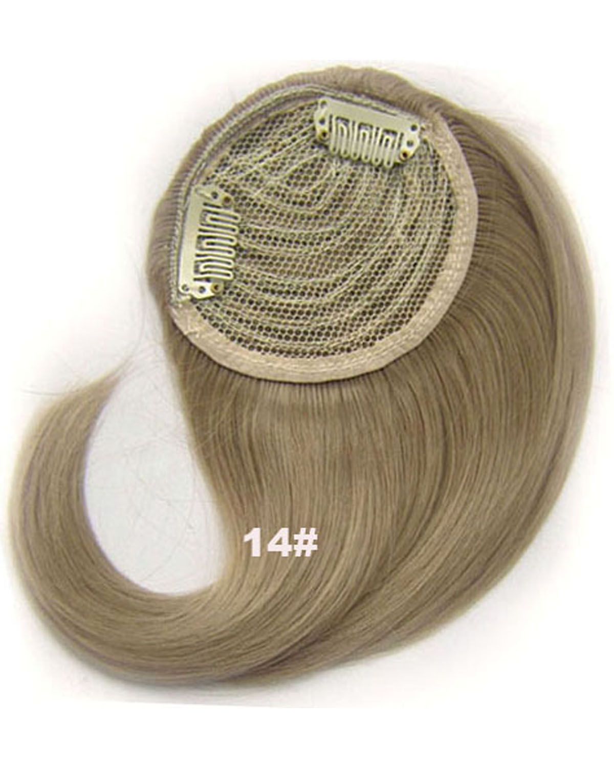 Girls Comfortable Straight Short Bangs Clip in Synthetic Hair Extension Fringe Bangs Hairpiece 14#