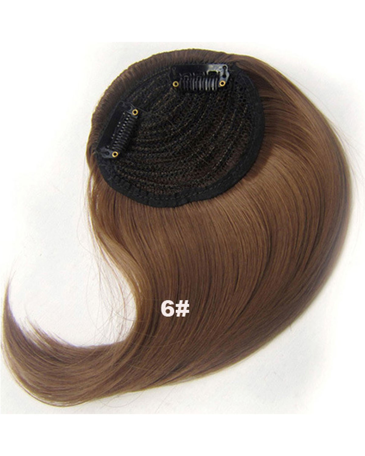 Girls Cosmopolitan Straight Short Bangs Clip in Synthetic Hair Extension Fringe Bangs Hairpiece 6#
