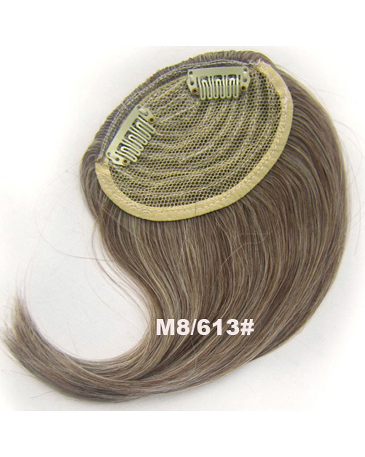 Girls Gorgeous Straight Short Bangs Clip in Synthetic Hair Extension Fringe Bangs HairpieceM8/613#