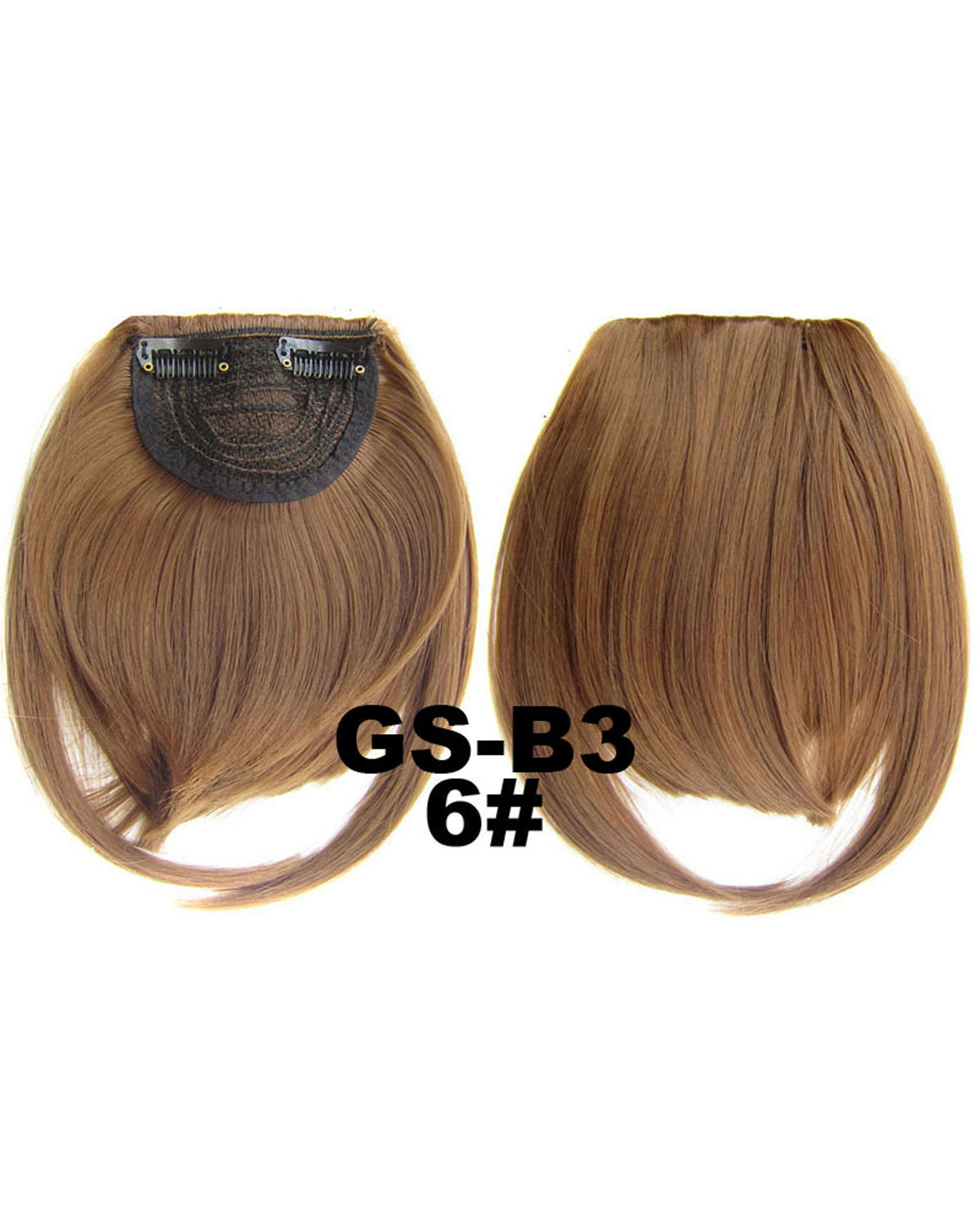 Girls Hot-sale Straight Short Bangs Clip in Synthetic Hair Extension Fringe Bangs Hairpiece  6#