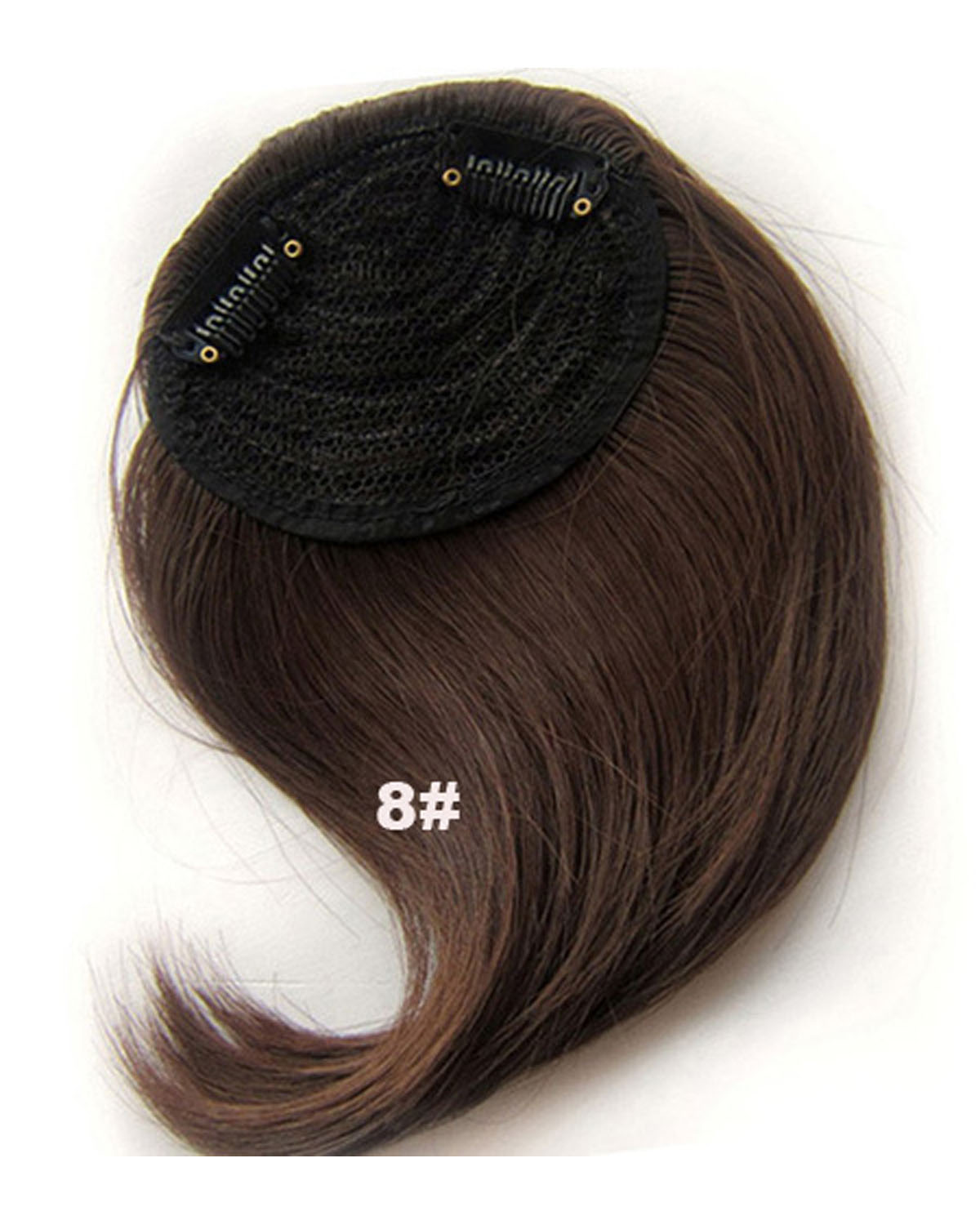 Girls Pretty Straight Short Bangs Clip in Synthetic Hair Extension Fringe Bangs Hairpiece 8#
