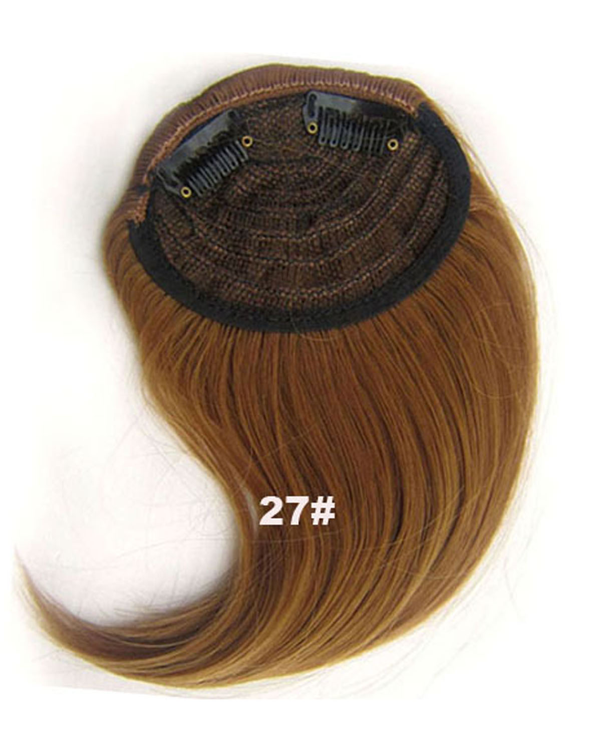 Girls Seductive Straight Short Bangs Clip in Synthetic Hair Extension Fringe Bangs Hairpiece27#