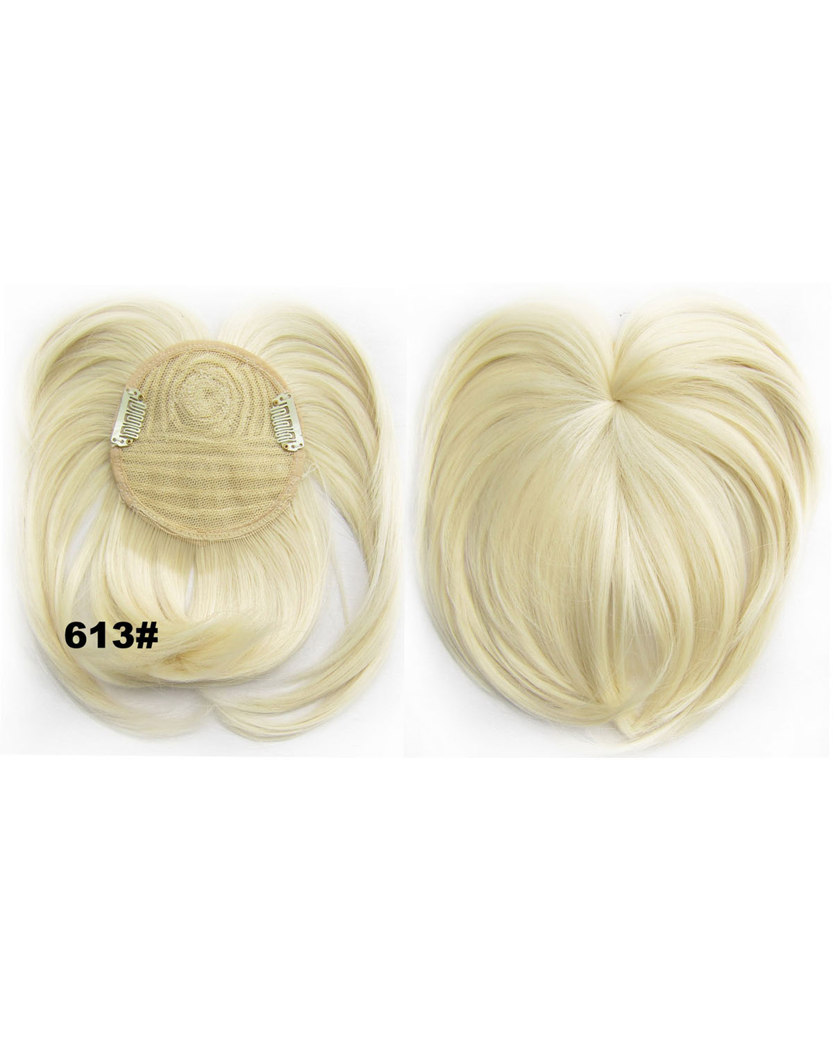 Girls Silky Straight Short Bangs Clip in Synthetic Hair Extension Fringe Bangs Hairpiece 613#