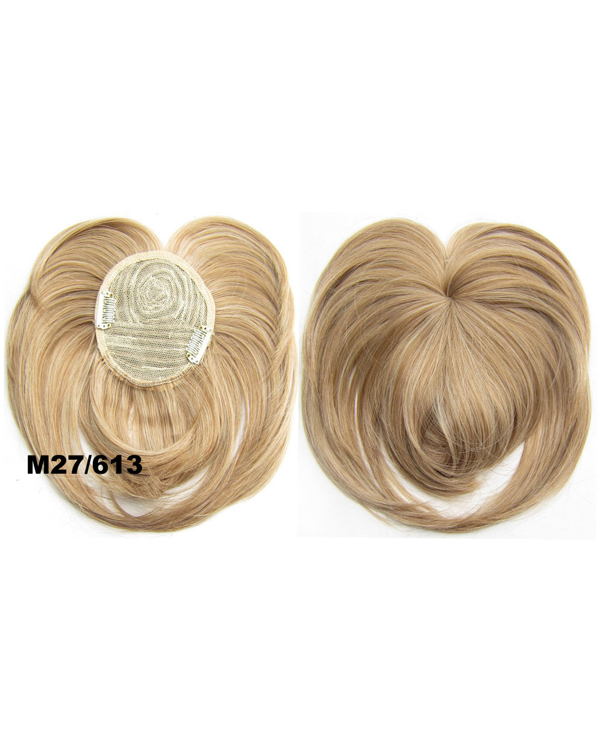 Girls Stylish  Straight Short Bangs Clip in Synthetic Hair Extension Fringe Bangs Hairpiece  M27/613#