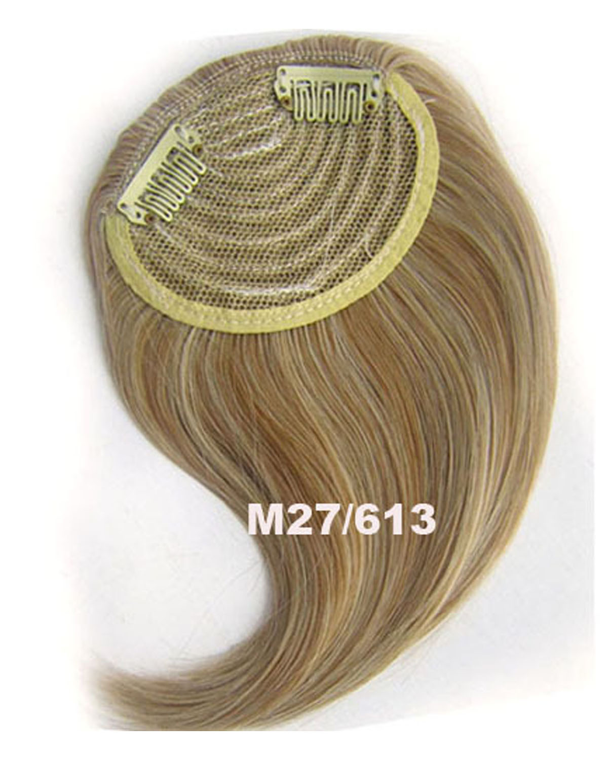 Girls Trendy  Straight Short Bangs Clip in Synthetic Hair Extension Fringe Bangs Hairpiece M27/613#