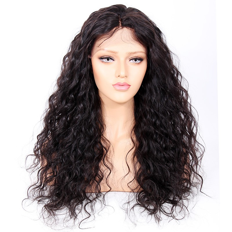 Glueless Full Lace Wigs Indian Remy Hair Curly