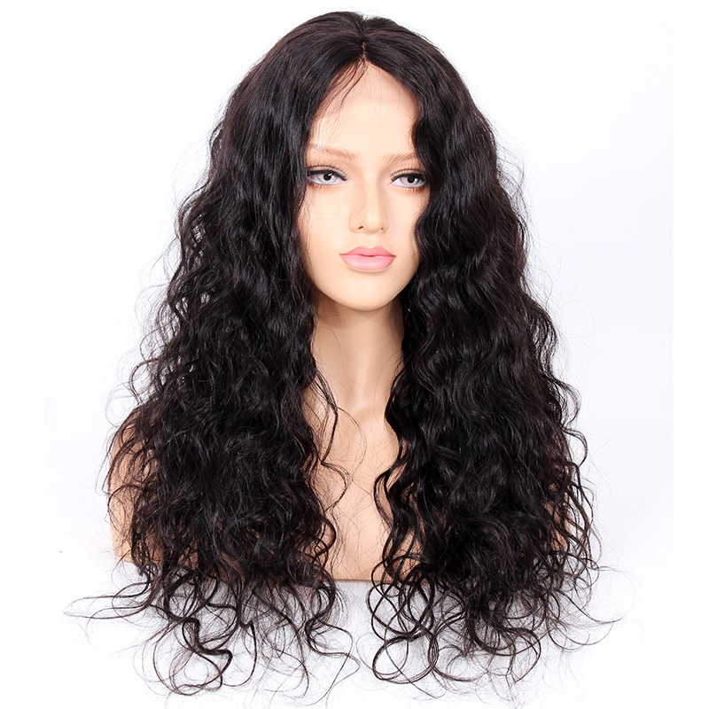 Glueless Full Lace Wigs Indian Remy Hair Loose Wave