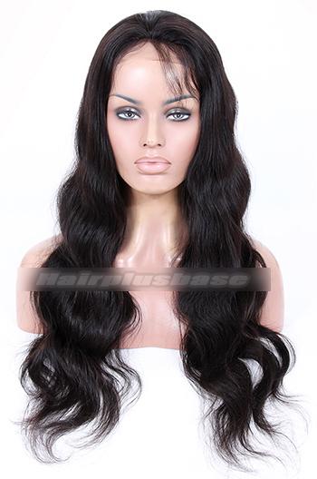 24 Inch Brazilian Virgin Hair Body Wave Glueless Lace Front Wigs
