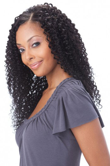 18 Inch Deep Curl Brazilian Virgin Hair Glueless Lace Front Wigs