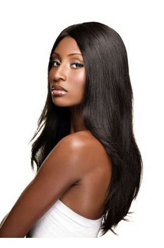 18 Inch Silky Straight Brazilian Virgin Hair Glueless Lace Front Wigs