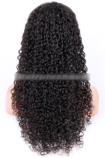 24 Inch 15mm Curl Chinese Virgin Hair Glueless Lace Front Wigs