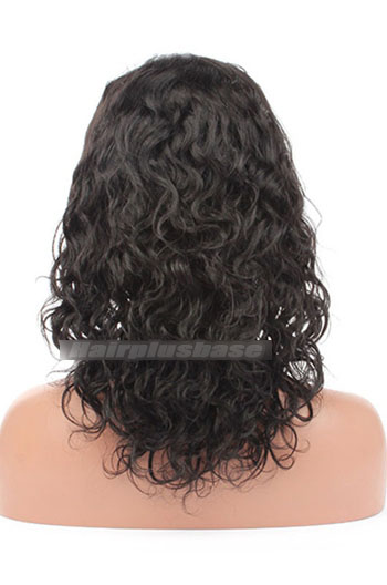 14 Inch Loose Curl Chinese Virgin Hair Glueless Lace Front Wigs