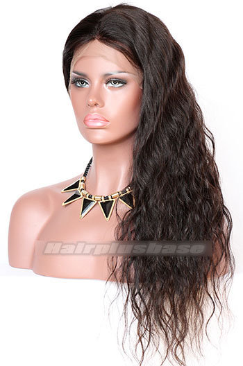 22 Inch Natural Wave Chinese Virgin Hair Glueless Lace Front Wigs