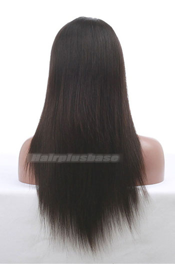 16 Inch Silky Straight Chinese Virgin Hair Glueless Lace Front Wigs