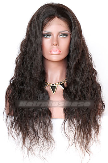 22 Inch Natural Wave Indian Remy Hair Glueless Lace Front Wigs
