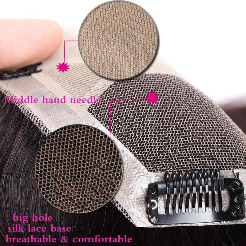 Hair Clip In 100% Human Hair Topper Piece Thin Air Bangs Fringe Remy Human Hairpiece 1