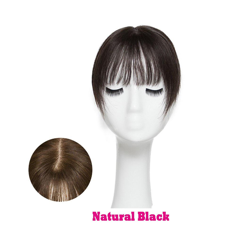 Hair Clip In 100% Human Hair Topper Piece Thin Air Bangs Fringe Remy Human Hairpiece 6