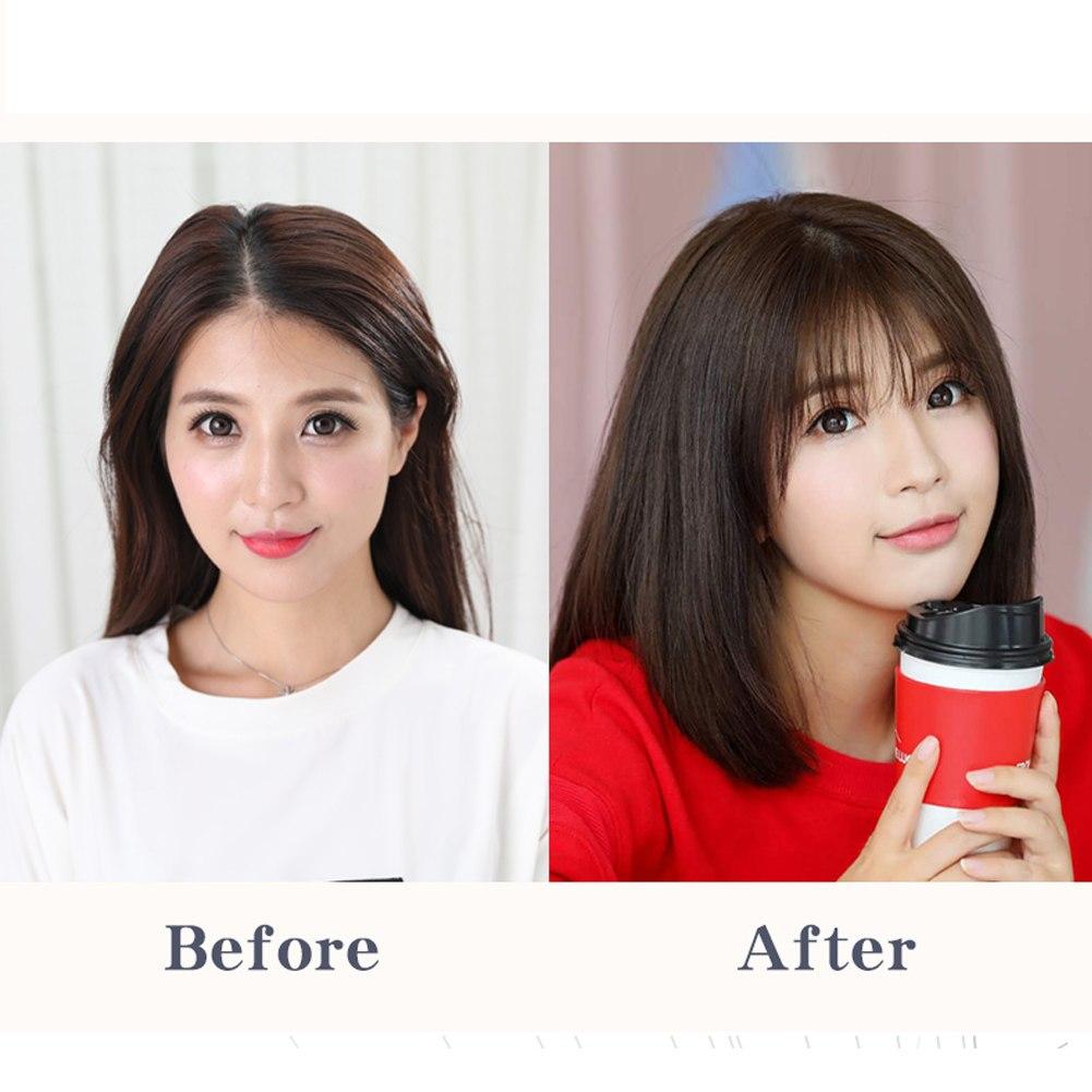Hair Clip In 100% Human Hair Topper Piece Thin Air Bangs Fringe Remy Human Hairpiece 9