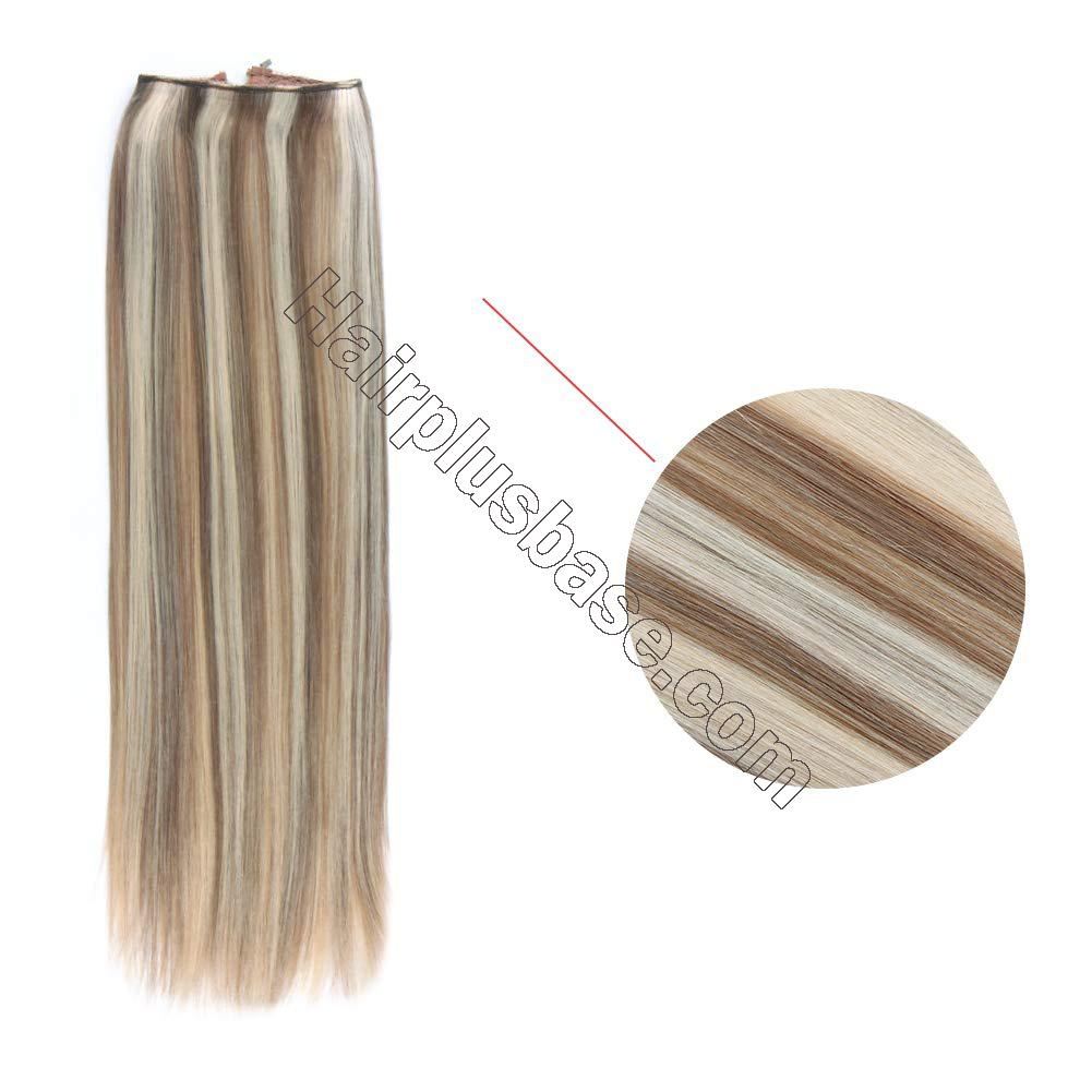 Halo Hair Extensions For Short Hair #8/613 Body Wave/Straight 3