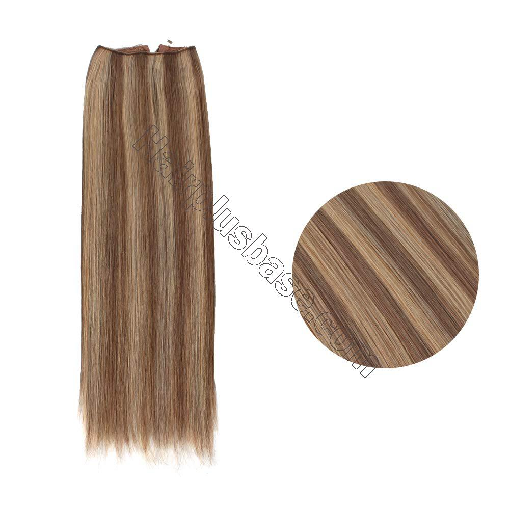Halo Hair Extensions For Thin Hair #4/27 Body Wave/Straight 2
