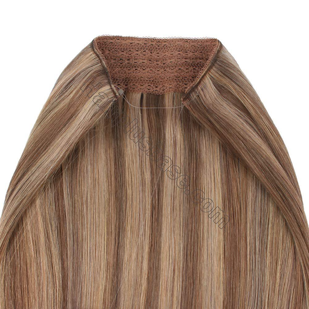 Halo Hair Extensions For Thin Hair #4/27 Body Wave/Straight 4