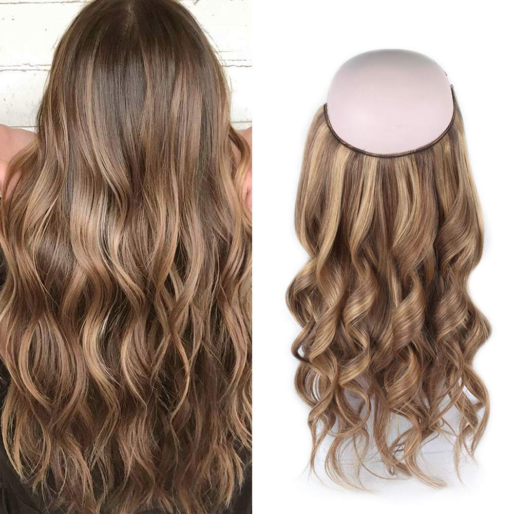 Halo Hair Extensions For Thin Hair #4/27 Body Wave/Straight 9