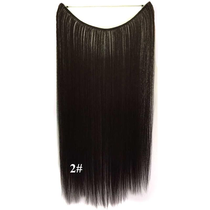 Hidden Halo Invisible Wire Hairpiece Secret Miracle Hair Extensions Straight 50g 1
