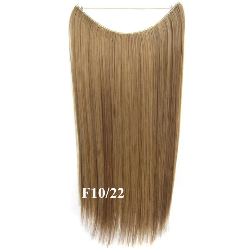 Hidden Halo Invisible Wire Hairpiece Secret Miracle Hair Extensions Straight 50g 11