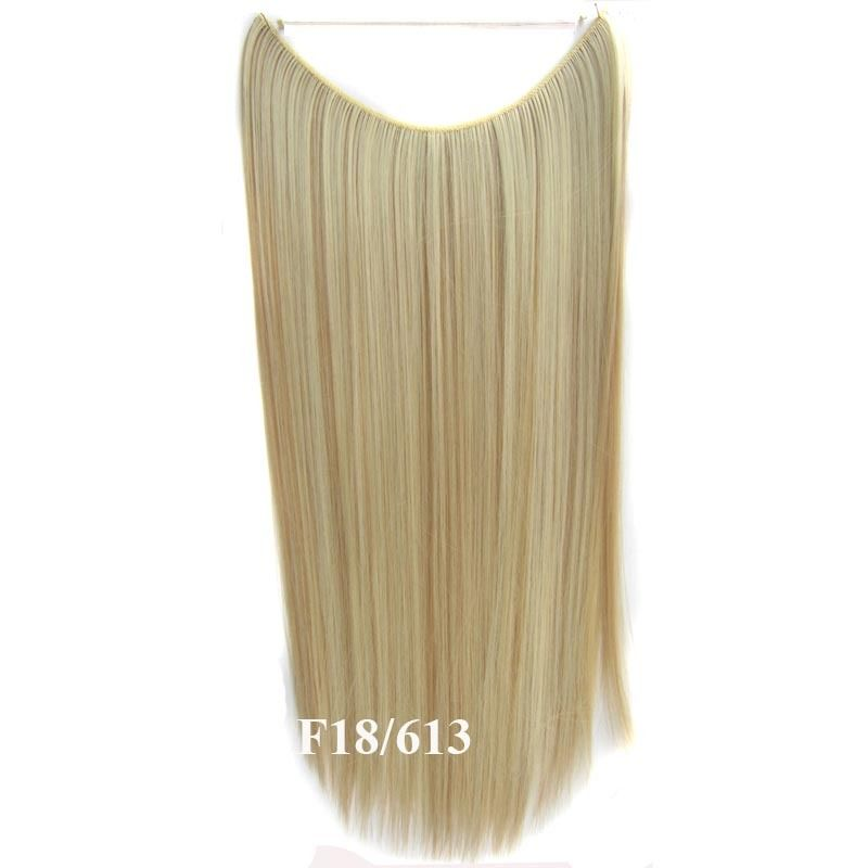 Hidden Halo Invisible Wire Hairpiece Secret Miracle Hair Extensions Straight 50g 12