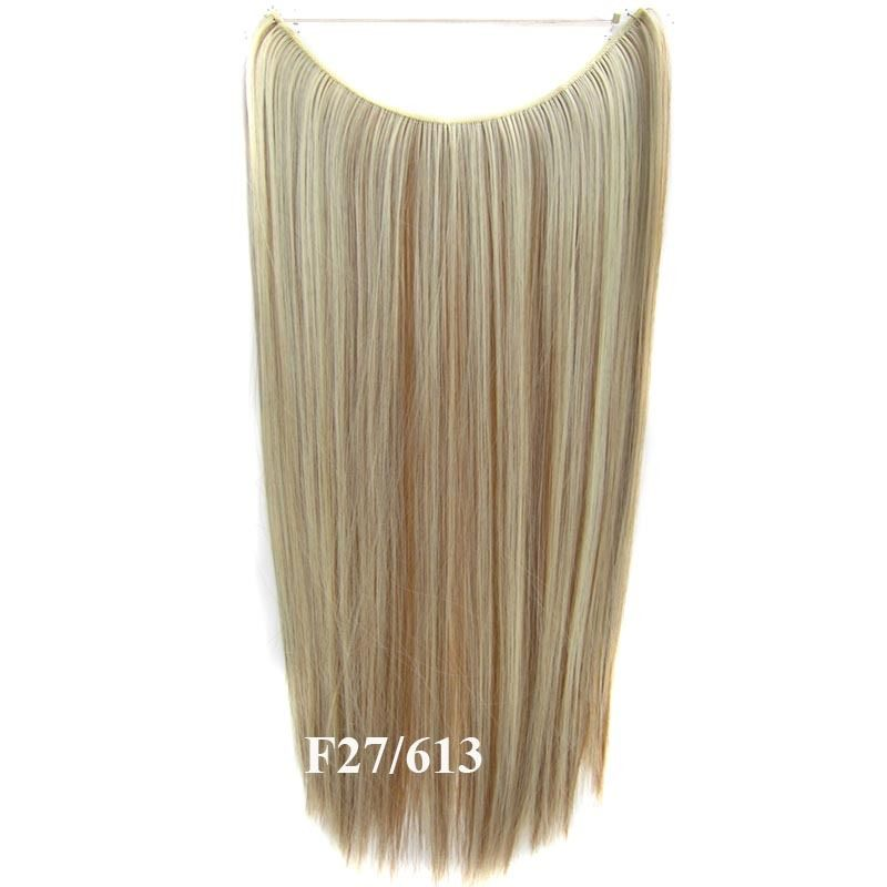 Hidden Halo Invisible Wire Hairpiece Secret Miracle Hair Extensions Straight 50g 13