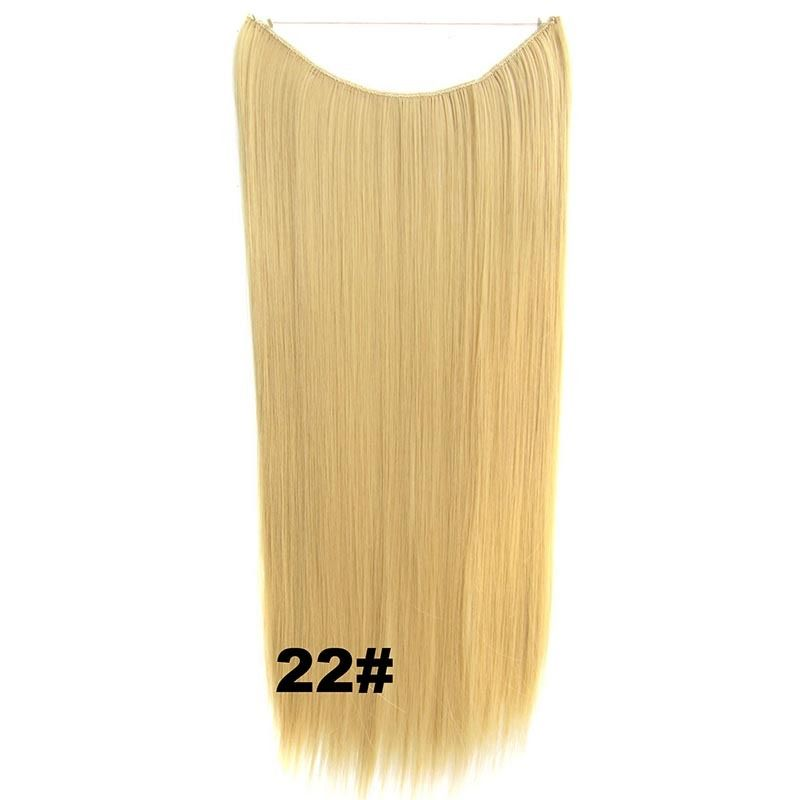 Hidden Halo Invisible Wire Hairpiece Secret Miracle Hair Extensions Straight 50g 14