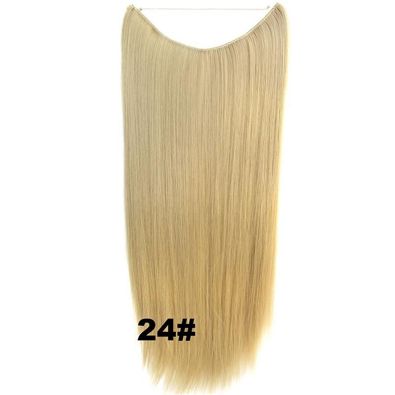 Hidden Halo Invisible Wire Hairpiece Secret Miracle Hair Extensions Straight 50g 15