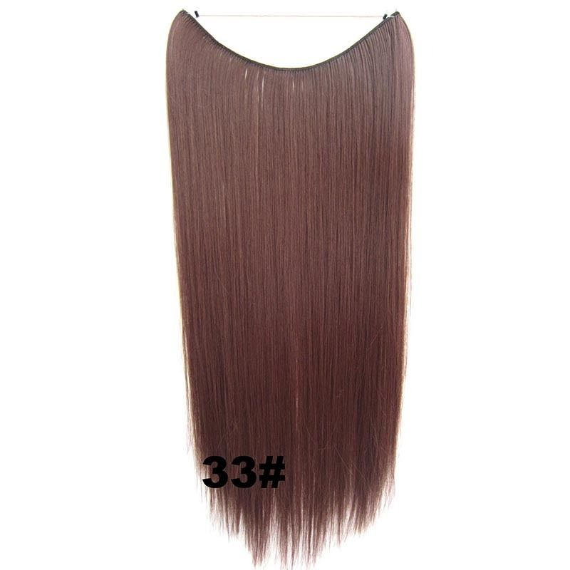 Hidden Halo Invisible Wire Hairpiece Secret Miracle Hair Extensions Straight 50g 17