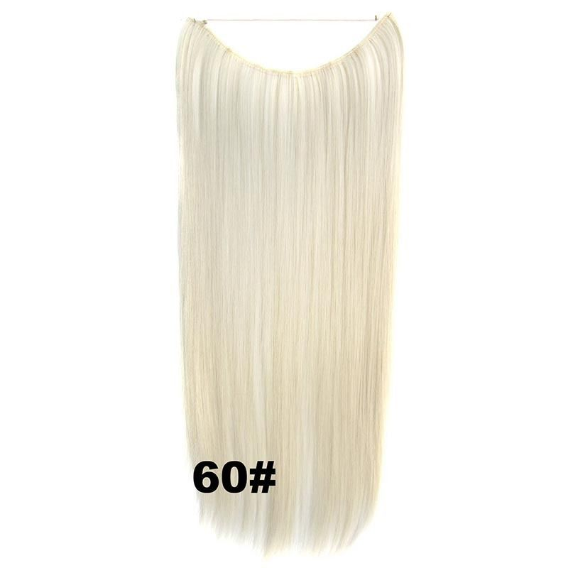Hidden Halo Invisible Wire Hairpiece Secret Miracle Hair Extensions Straight 50g 18