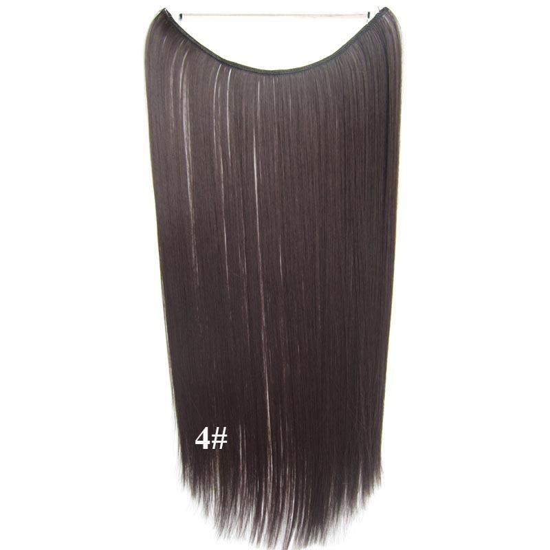 Hidden Halo Invisible Wire Hairpiece Secret Miracle Hair Extensions Straight 50g 2