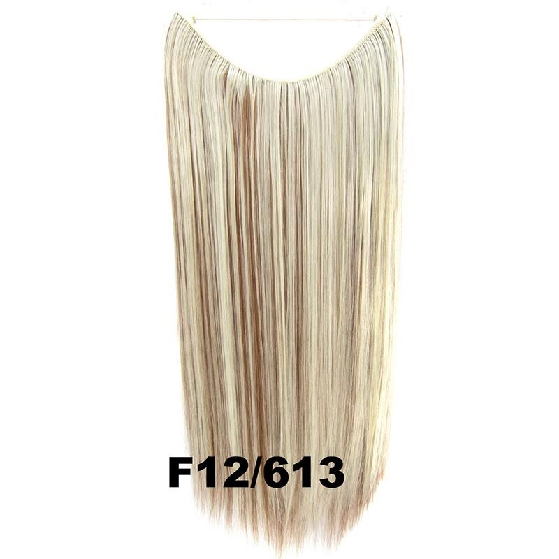 Hidden Halo Invisible Wire Hairpiece Secret Miracle Hair Extensions Straight 50g 23