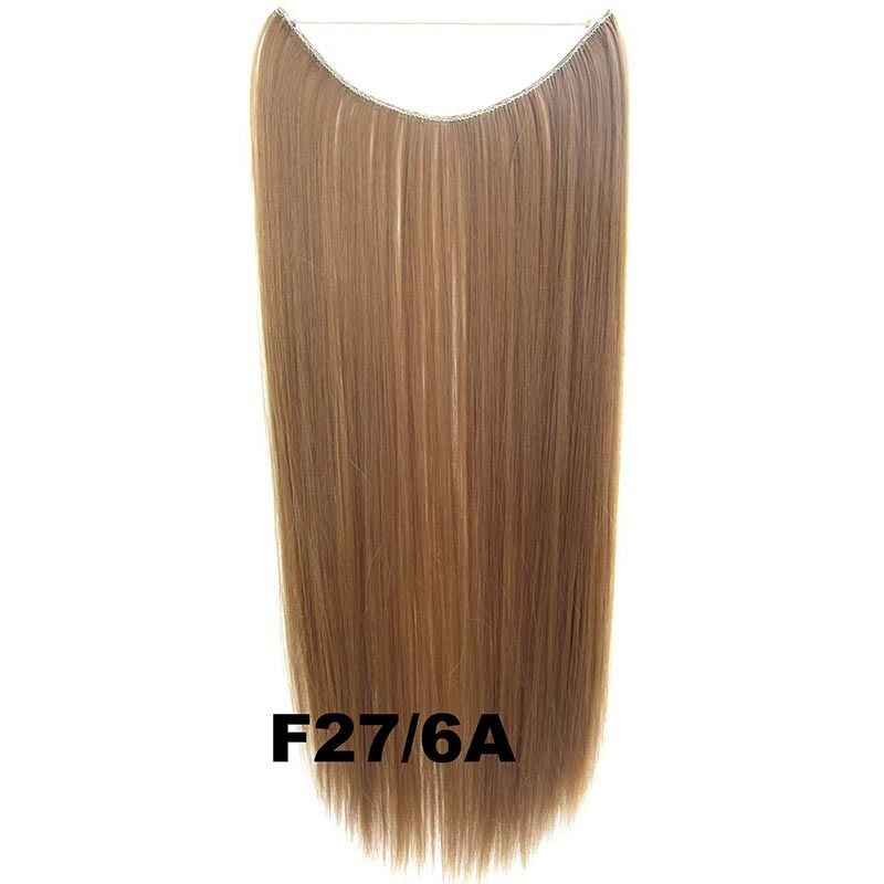 Hidden Halo Invisible Wire Hairpiece Secret Miracle Hair Extensions Straight 50g 26