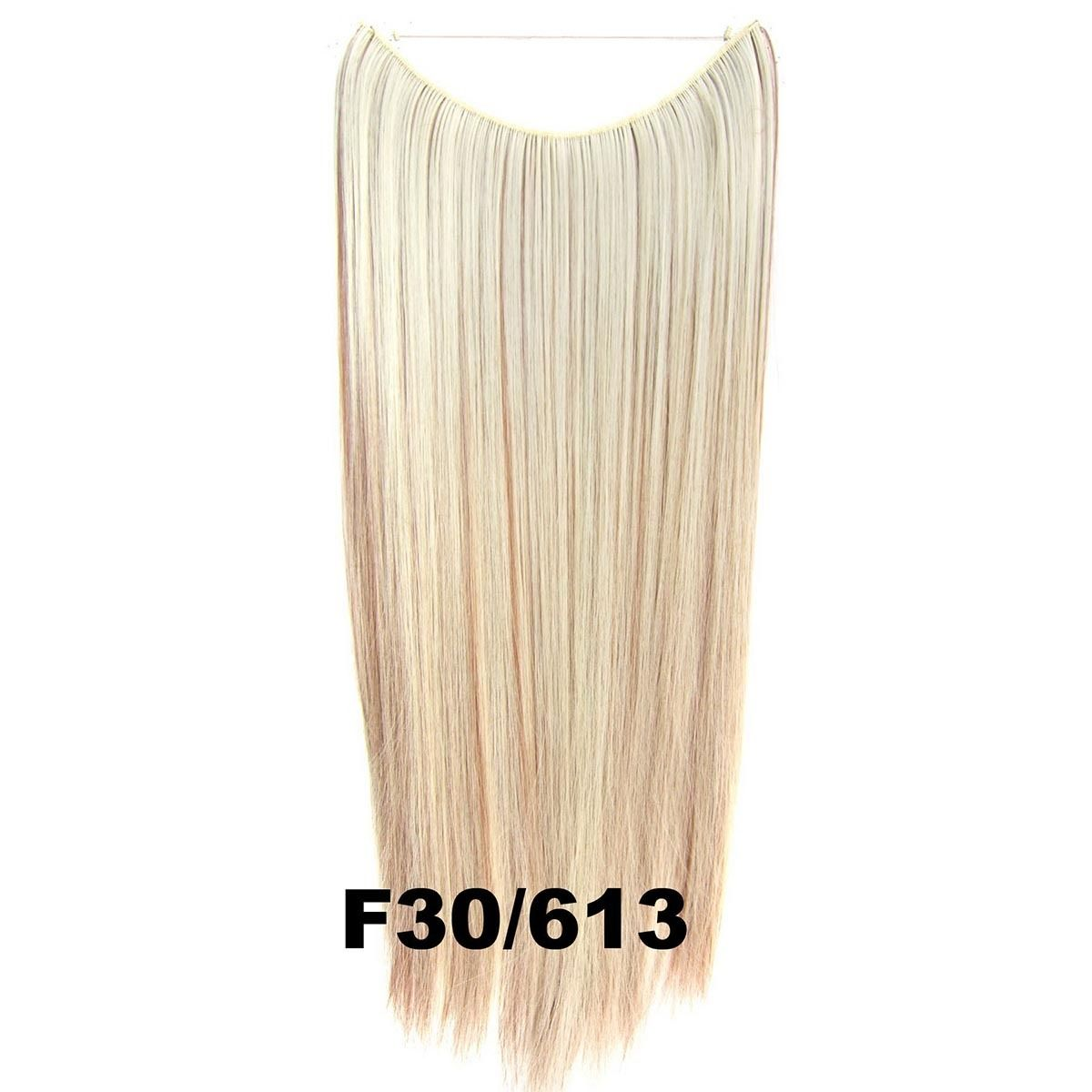Hidden Halo Invisible Wire Hairpiece Secret Miracle Hair Extensions Straight 50g 27