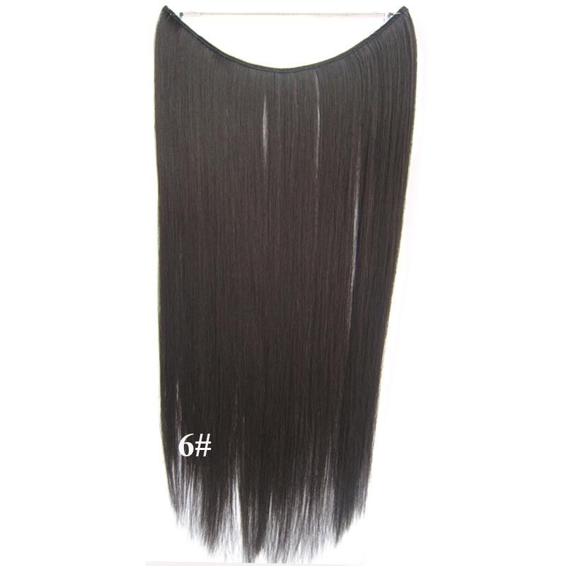 Hidden Halo Invisible Wire Hairpiece Secret Miracle Hair Extensions Straight 50g 3