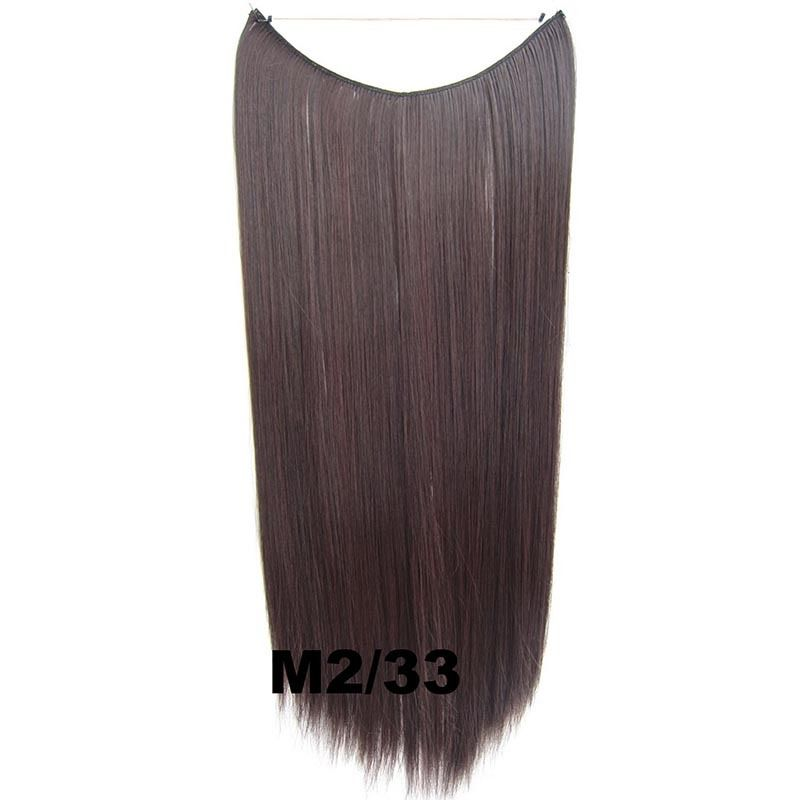Hidden Halo Invisible Wire Hairpiece Secret Miracle Hair Extensions Straight 50g 30