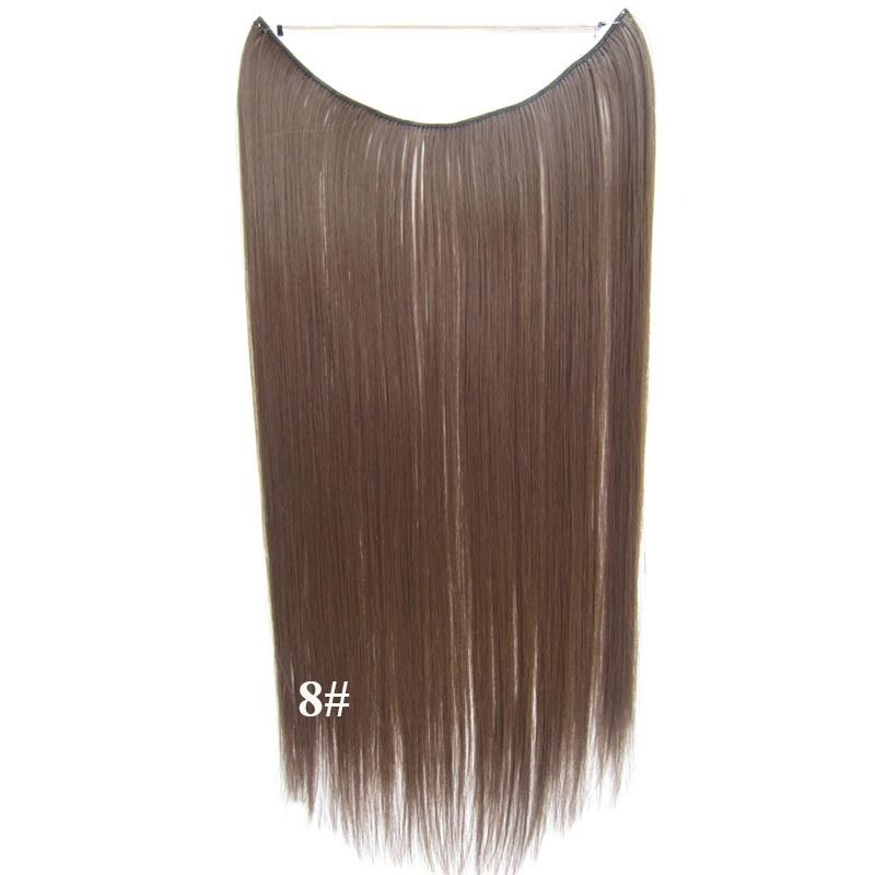 Hidden Halo Invisible Wire Hairpiece Secret Miracle Hair Extensions Straight 50g 4