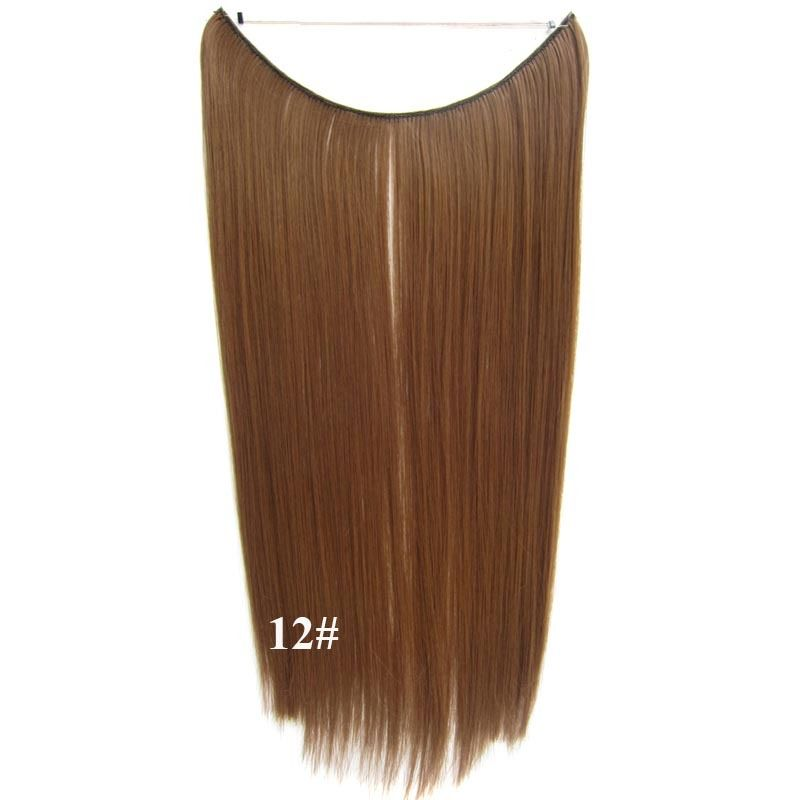 Hidden Halo Invisible Wire Hairpiece Secret Miracle Hair Extensions Straight 50g 6