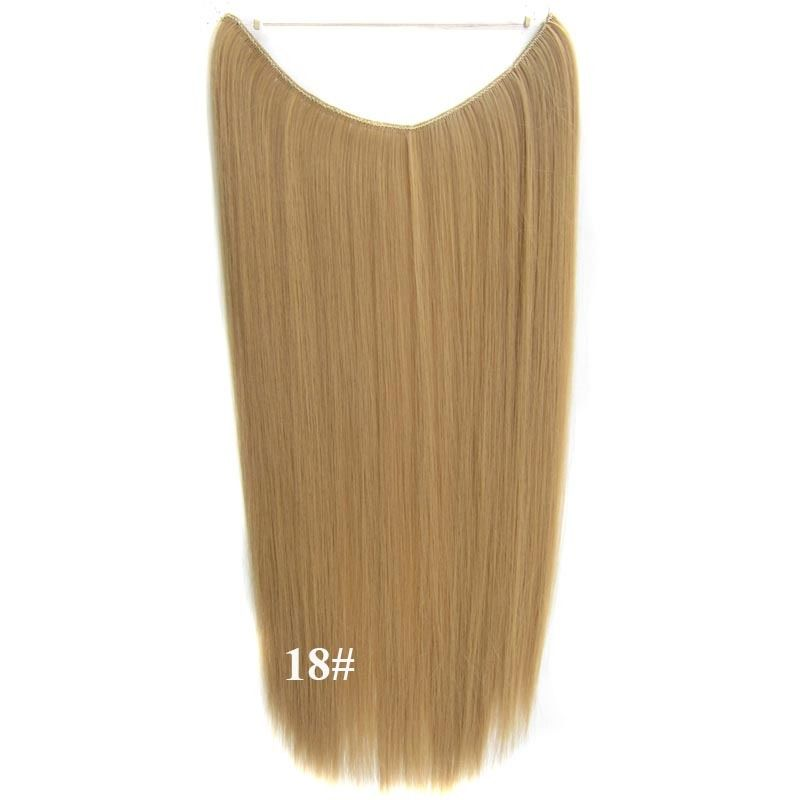 Hidden Halo Invisible Wire Hairpiece Secret Miracle Hair Extensions Straight 50g 8
