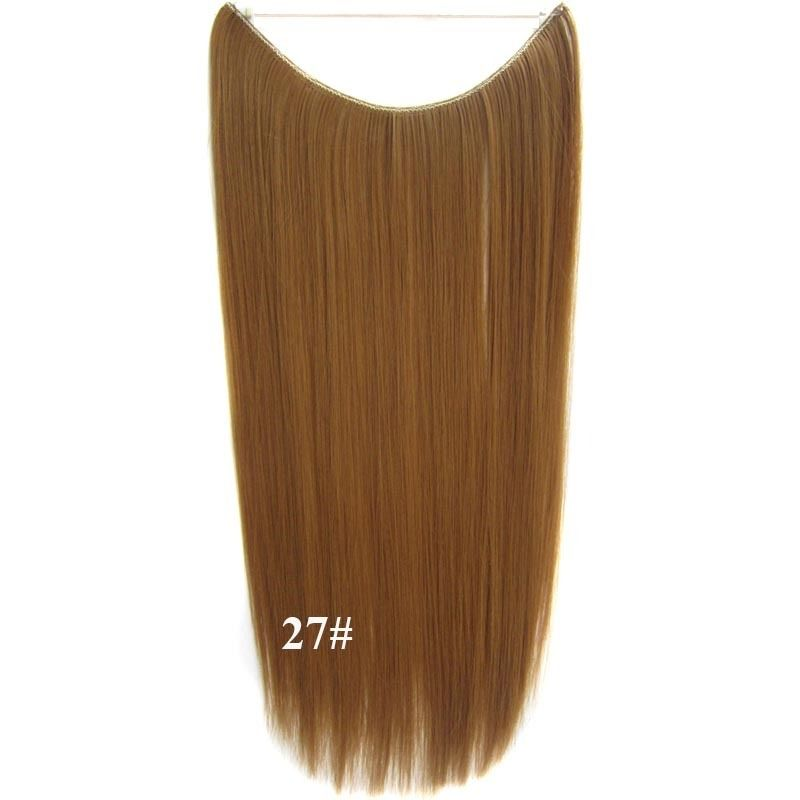 Hidden Halo Invisible Wire Hairpiece Secret Miracle Hair Extensions Straight 50g 9